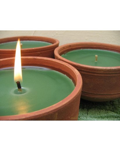 Terracotta Candle, 4x3 inch Aroma Pot