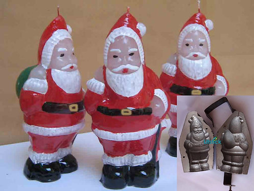 Iron Candle Mold, Santa