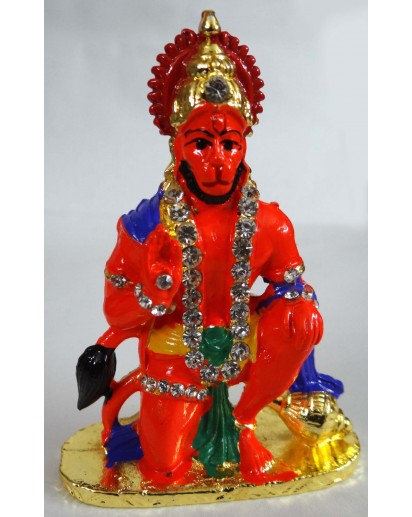 Shri Hanuman metal statue for car, small temple