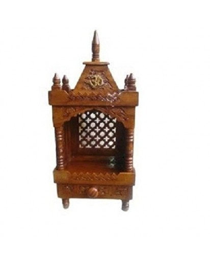 Wooden Temple, Small Mandir for home & Office
