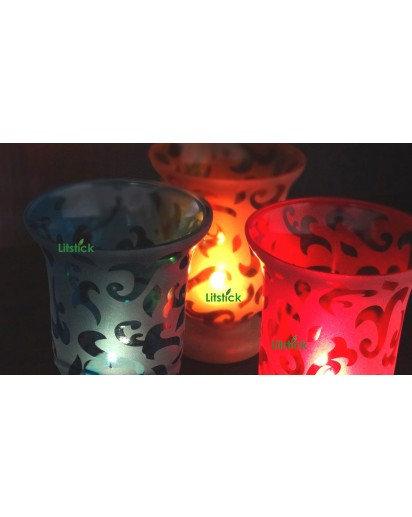 Umrao Glass Holder, Votive candles