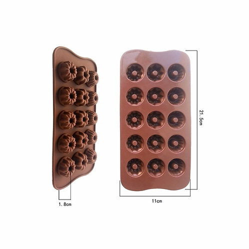 Chocolate mold-Silicon tray, 15 flowers