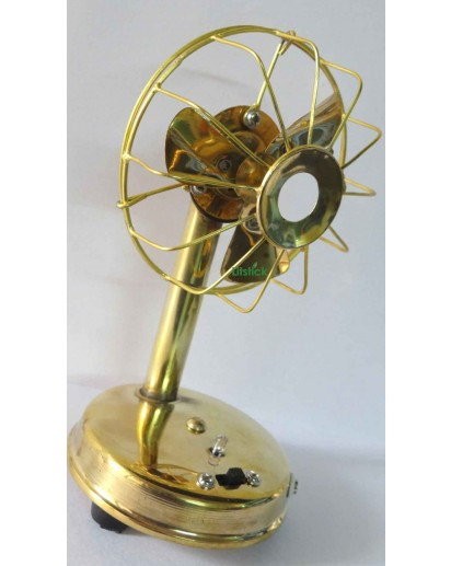 Antique Brass Table Fan, battery operated
