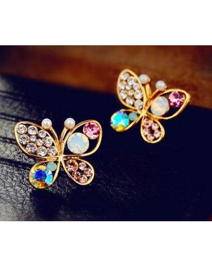 Colorful Butterfly stud Earrings, Modern design