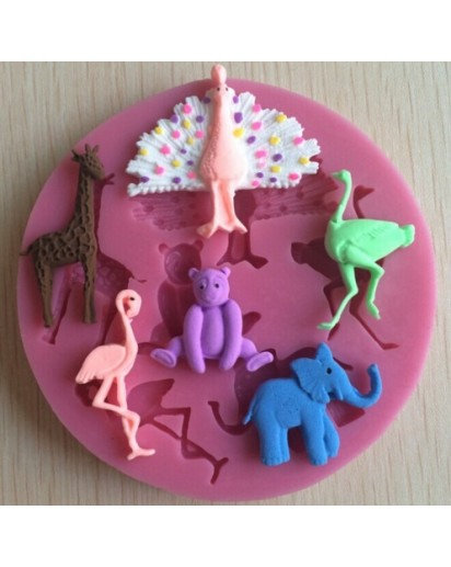 Silicone Candle mold-ZOO, Soap, Cake, Chocolate decoration