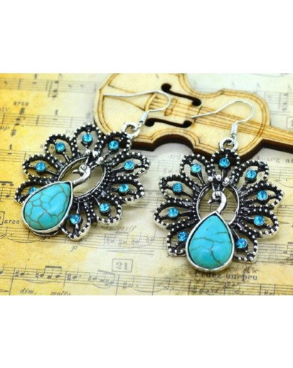 Peacock dangle Earrings, Modern design