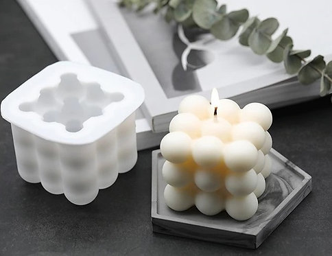 Bubbly cube candle mold
