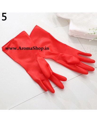 Waterproof Reusable Household Kitchen Anti-Slip Dish Washing Cleaning PVC Gloves