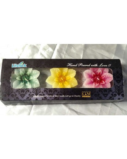 Orchid Gift Pack of 3 Floating Candles