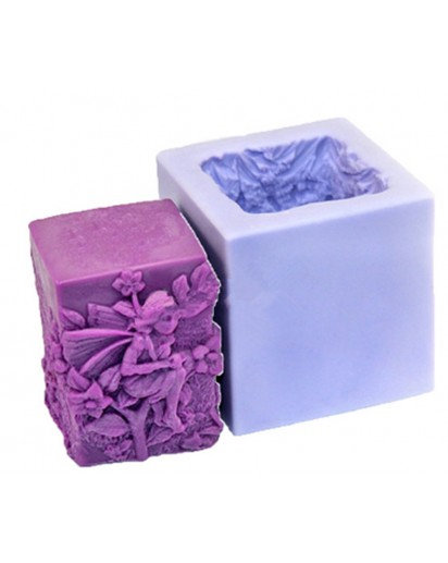 Silicone Mold Square candle fairy mold, CANDLE