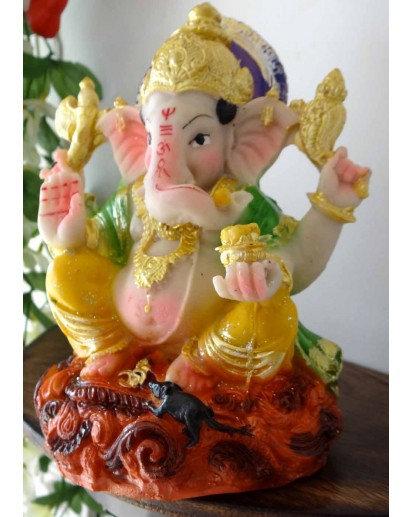 Ganesh mushak statue, Rasin statue