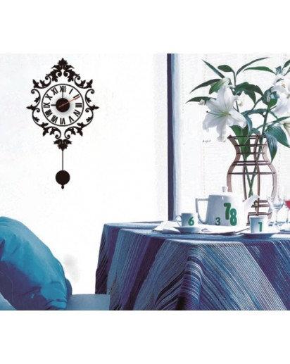 18.5x32cm, Elegant Wall Decal Clock