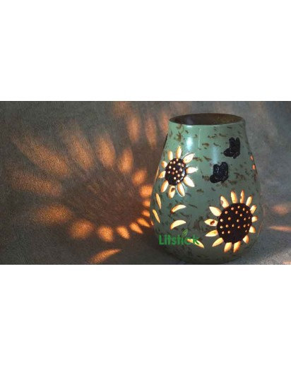 "Electric Aroma Lamp, 7"" inch SUNFLOWER design"