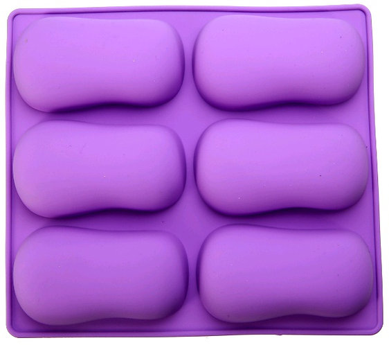 Silicone Soap OVAL Mold tray, 100gm soap mold
