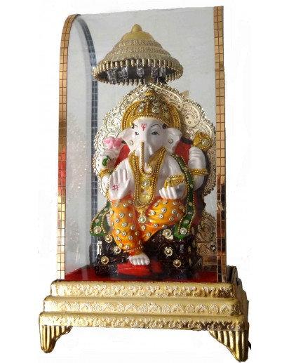 Ganesh Chowki, LED Cabinet Rasin statue
