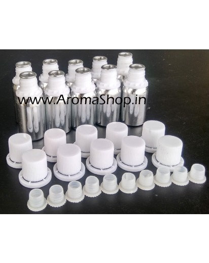10ml Aluminium bottles, set of 10
