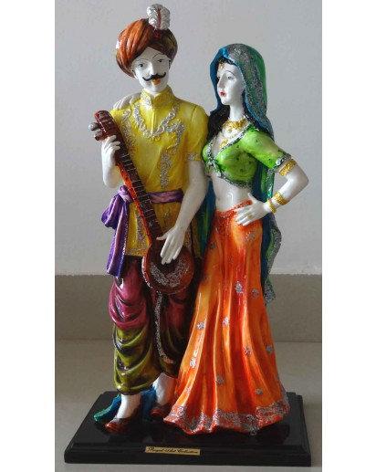 Rajasthani couple, Elegant Rasin statue