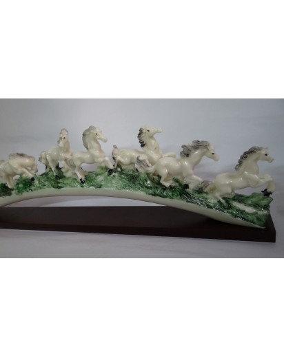 8 Running Horses statue, Tableware decorative