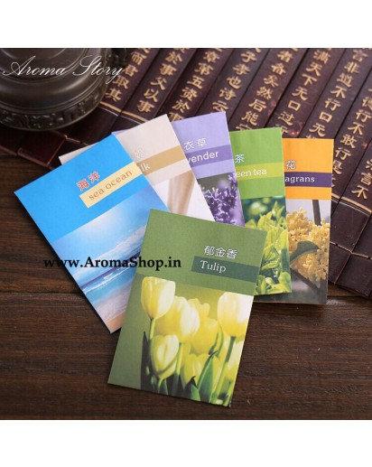 10 Fragrant Paper Sachet for Washroom, Car, Wardrobe