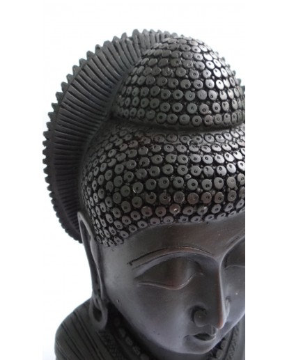 Buddha in meditation,8 inch Black Rasin statue