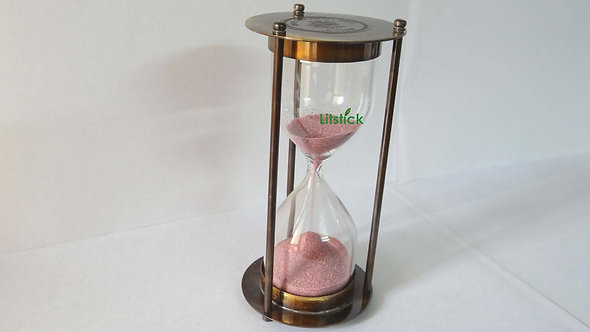 Antique 5 min. Sand timer, UK Navy