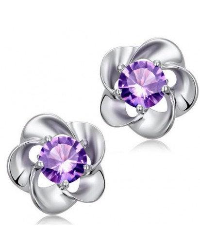 Crystal Flower Earrings, Modern design