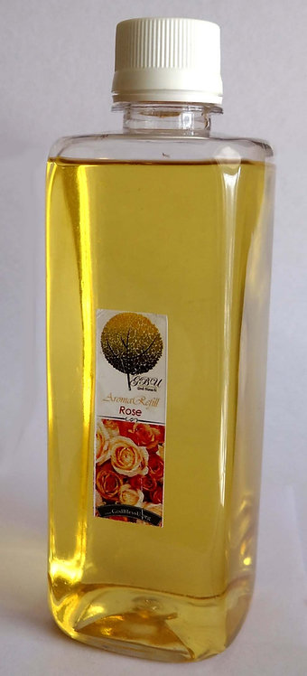 Reed Diffuser Refill 500ml. bottle with spray, ROSE