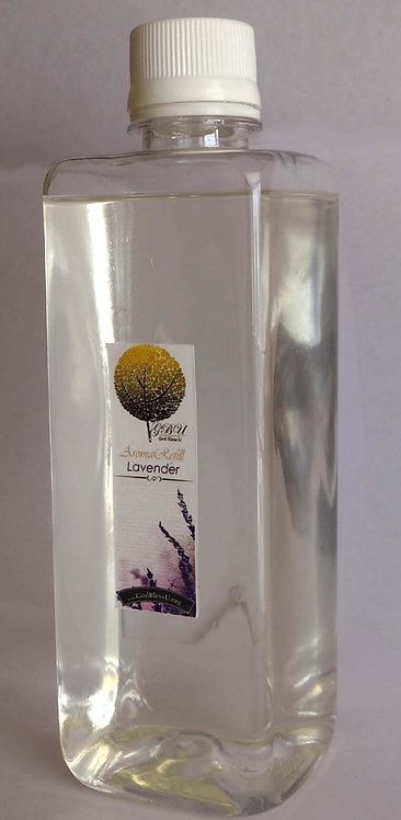 Reed Diffuser Refill 500ml. bottle with spray, LAVENDER