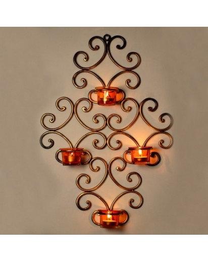 Tealight holder, Wall decor set of 4 votives