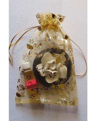Ceramic Flower with 10ml. Aroma oil bottle