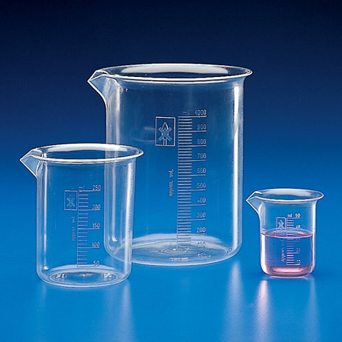 Glass Beakers, Borosil Measuring jars