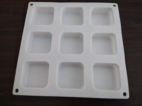 Soap mold tray of 9, silicon soap mold 75gm