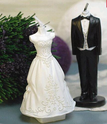 Bride Groom Silicon Candle mold set