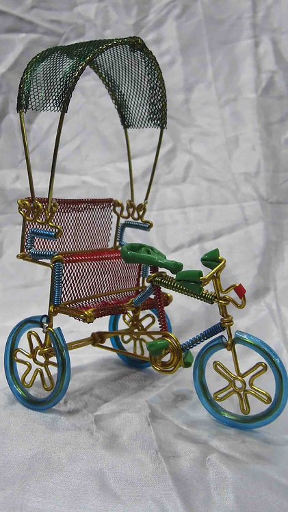 Colorful Wire Rikshaw, handmade