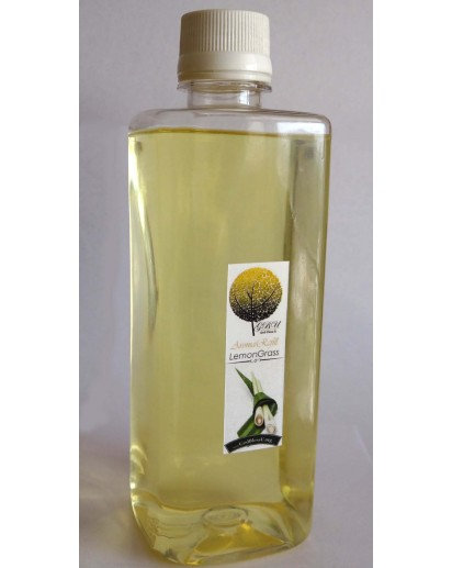 Reed Diffuser Refill 500ml. bottle with spray, Lemongrass