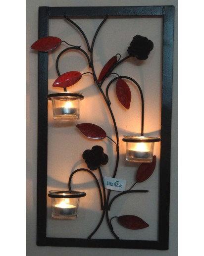 Tealight holder, TLH-234, Wall decor set of 3 votives