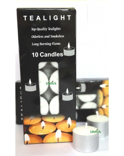 10 Hrs. Tealight Candles, Pack of 10