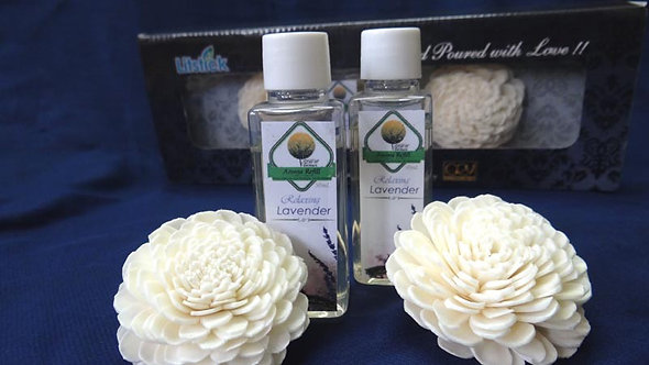 2 Sola Diffuser with 2 Bottles of Lavender oil 50ml. each