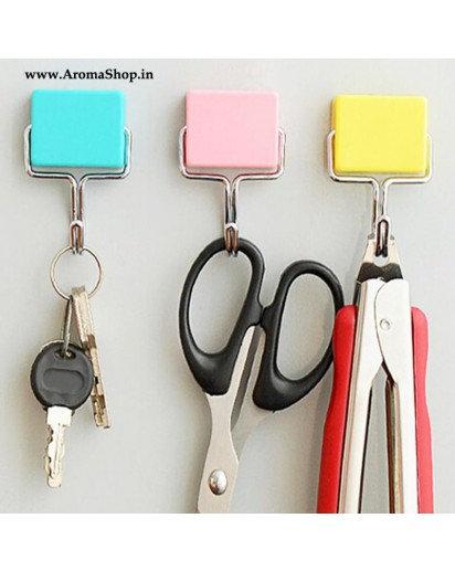 Practical Magnets Key Holder Suck Rack Magnetic Hanger, set of 3