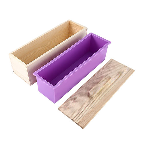 Silicone Soap Mold with Wooden box, 2 size