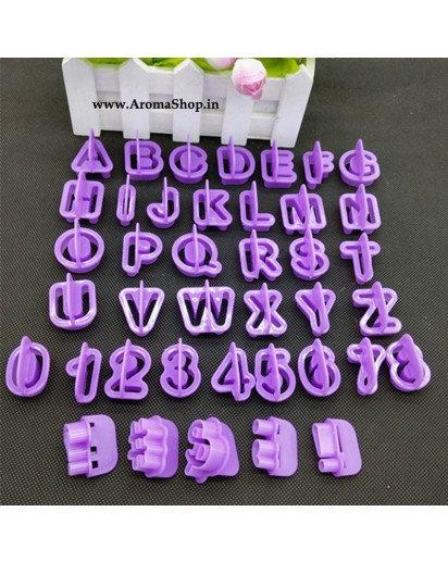 Set of 40 Alphabet Letter Number Cake Cutter