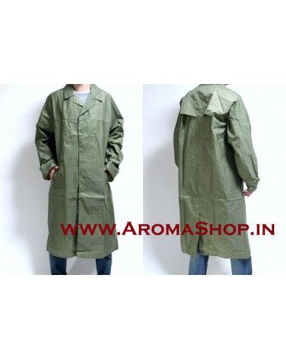 Military Raincoat,BEST QUALITY inner rubber line+CAP,Bike Rain coat, RUBBER COAT