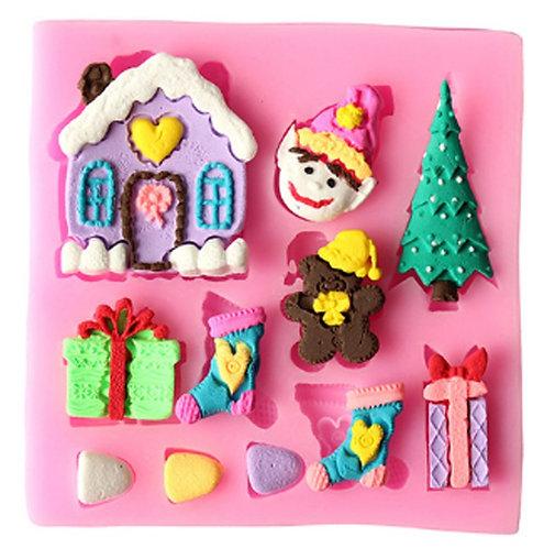 Silicone Candle mold-CHRISTMASHOME, Soap, Cake, Chocolate decoration
