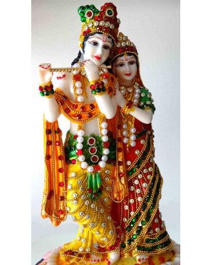 Radha Krishna Jewel statue, Rasin
