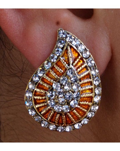 Paan dangle Earrings, Modern design
