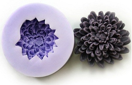 Silicone Candle mold-BIG PEONY, Soap, Cake, Chocolate decoration