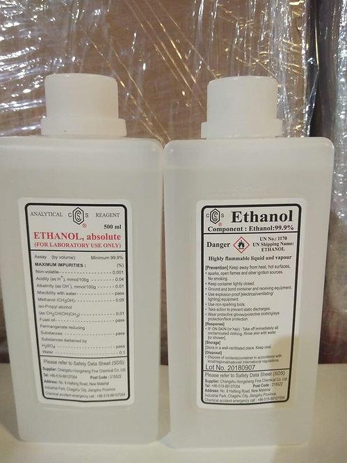 Ethanol, Ethyl Alchol 500ml, 99.9% Pure