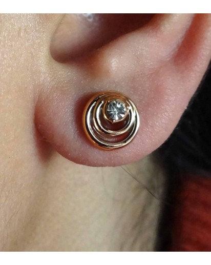 Golden swirl Ear Rings, Designer Ear Ring