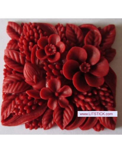 Silicone soap mold-Three square flowers,Cake, Chocolate decoration