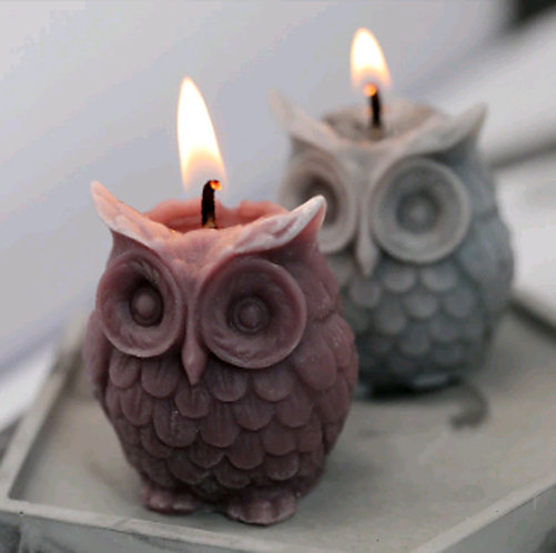 3D OWL SILICON SOAP MAKING MOLD, 3 size
